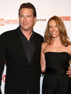 John Corbett and Toni Collette arrive at the premiere of Showtime's 'United States of Tara' at the DGA Theater