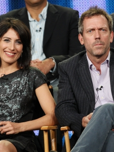 Lisa Edelstein and Hugh Laurie of 'House' speak at the Fox TCA in Los Angeles, Jan. 13 2009