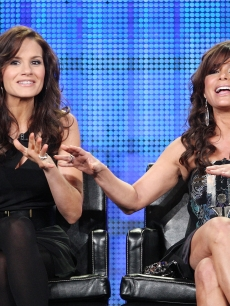 Kara Dioguardi and Paula Abdul speak at the Fox TCAs, Jan. 13, 2009