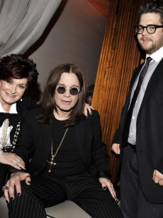 Sharon, Ozzy and Jack Osbourne at Fox's Winter All-Star Party