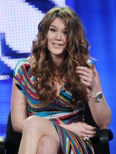 Joss Stone promotes her role in 'The Tudors,' in LA, Jan. 14, 2009