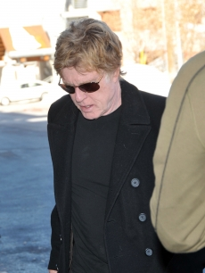 Robert Redford in Park City, Utah, for the Sundance Film Festival on January 15, 2009
