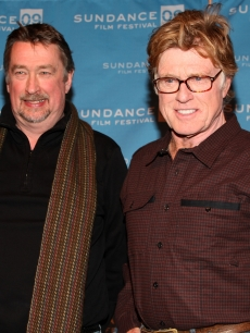 Sundance Film Festival Director Geoffrey Gilmore and President and founder of Sundance Institute Robert Redford speak at the opening day press conference