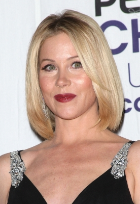 Christina Applegate poses with the award for Favorite Female TV Star in the press room at the 35th Annual People&#8217;s Choice Awards