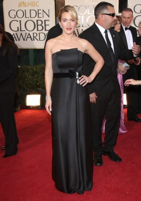 Kate Winslet arrives at the 66th Annual Golden Globe Awards