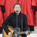 Bruce Springsteen sings on stage at We Are One