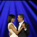 President Barack Obama dances with his wife, First Lady Michelle Obama to &#8216;At Last&#8217; at their first Inauguration ball on Inauguration day
