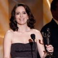 Tina Fey accepts the Female Actor in a Comedy Series award for '30 Rock' during the 15th Annual Screen Actors Guild Awards held at the Shrine Auditorium on January 25, 2009 in Los Angeles, California