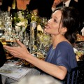 Angelina Jolie makes conversation during the SAG Awards