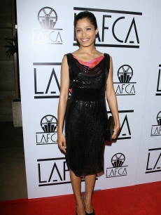 Freida Pinto arrives to the 34th Annual Los Angeles Film Critics Association Awards in LA