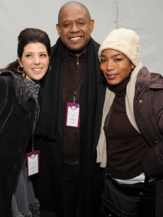 Marisa Tomei, Forest Whitaker and Angela Bassett pose for a picture at We Are One