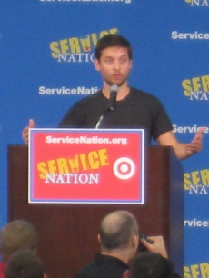 Tobey Maguire announces ServiceNation&#8217;s Ambassador Council