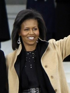 Michelle Obama at the Lincoln Memorial (Jan. 18, 2009)