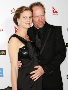 Rachel Griffiths and her husband at G'Day USA gala in Hollywood