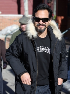 A bearded Benjamin Bratt steps out at Sundance 2009