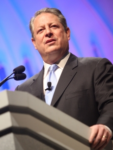 Former Vice President Al Gore attends the Creative Coalition's Students Inaugural Program at the Cole Field House at the University of Maryland on January 19, 2009