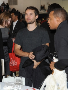 Tobey Maguire attends Entertainment Industry Foundation and ServiceNation 'A New Era of Service' Breakfast at Ballou Senior High School on January 19, 2009 in Washington, DC