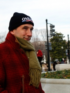 Billy Baldwin walks to the 56th Presidential Inauguration at the United States Capitol on January 20, 2009 in Washington, DC