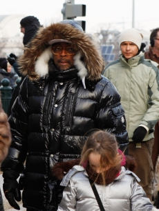 Spike Lee walks to the 56th Presidential Inauguration at the United States Capitol on January 20, 2009 in Washington, DC