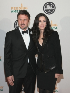David Arquette and wife, actress Courtney Cox attends the RIAA and Feeding America's Inauguration Charity Ball