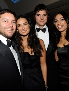 Tobey Maguire, Demi Moore, Ashton Kutcher and Rosario Dawson at MTV and ServiceNation&#8217;s &#8216;Be The Change: Live From the Inaugural Ball&#8217;