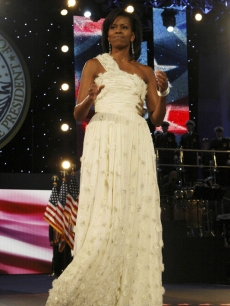 Michelle Obama in Jason Wu at the Neighborhood Ball on Inauguration Night