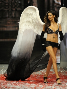 Adriana Lima at the Victoria's Secret Fashion Show at the Fontainebleau Miami Beach resort in November 2008
