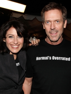 'House' stars Lisa Edelstein and Hugh Laurie celebrate the show's 100th episode in LA