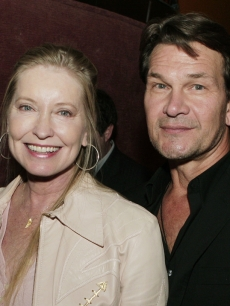 Patrick Swayze and his wife Lisa in Los Angeles (October 2007)