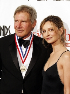 Harrison Ford and Calista Flockhart arrive at the 6th Annual Living Legends of Aviation Awards ceremony at the Beverly Hilton Hotel
