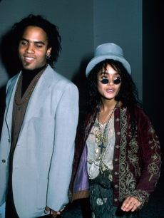 Lenny Kravitz and then-wife Lisa Bonet, 1988