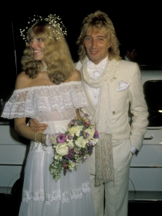 Alana Hamilton and Rod Stewart, April 1979