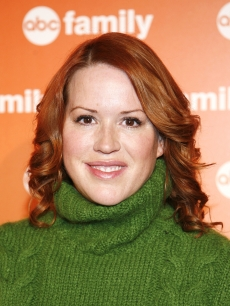 Molly Ringwald attends ABC Family's '25 Days of Christmas' winter wonderland event hosted at The Rock Center Cafe at Rockefeller Center on December 7, 2008
