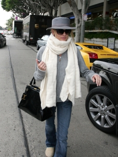 Nicollette Sheridan bundles up in LA