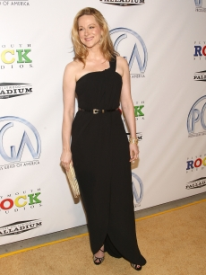 Laura Linney smiles for the cameras at the Producers Guild Awards in LA