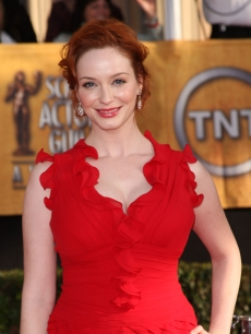 Christina Hendricks arrives at the 15th Annual Screen Actors Guild Awards held at the Shrine Auditorium on January 25, 2009 in Los Angeles, California