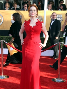 Christina Hendricks arrives at the 15th Annual Screen Actors Guild Awards held at the Shrine Auditorium on January 25, 2009