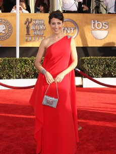 Lisa Edelstein arrives at the 15th Annual Screen Actors Guild Awards held at the Shrine Auditorium on January 25, 2009 in Los Angeles, Ca