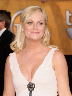 'SNL' vet Amy Poehler goes for a white gown at the 2009 SAG Awards