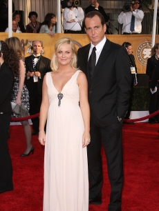 Amy Poehler and husband Will Arnett arrive on the SAG Awards red carpet