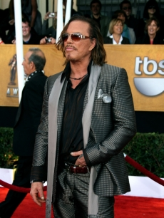 Mickey Rourke on the red carpet of the 15th Annual SAG Awards