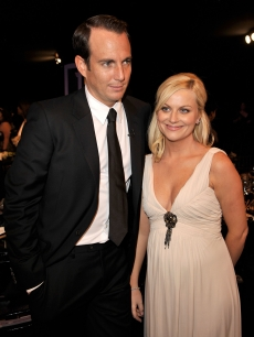 Will Arnett and Amy Poehler inside the SAG Awards