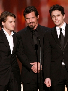 Emile Hirsch, Josh Brolin and James Franco present at the 2009 SAG Awards