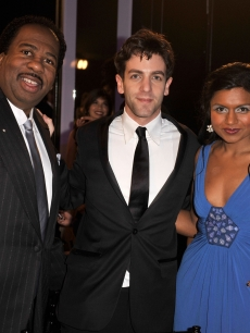 Leslie David Baker, B.J. Novak and Mindy Kaling attends the 15th Annual Screen Actors Guild Awards cocktail party