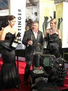 William Shatner gives the SAG Awards champagne toast