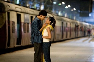 Dev Patel and Freida Pinto in a scene from 'Slumdog Millionaire'