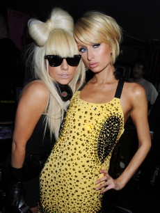 Lady GaGa and Paris Hilton party at the Nokia 5800 launch in London