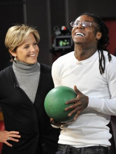 Katie Couric and Lil Wayne rap on Katie's Grammy special