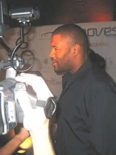 Retired New York Giants star Michael Strahan hits the Moves Magazine red carpet