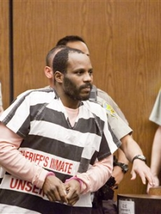 DMX heads out of the courtroom after hearing his jail sentence in Phoenix